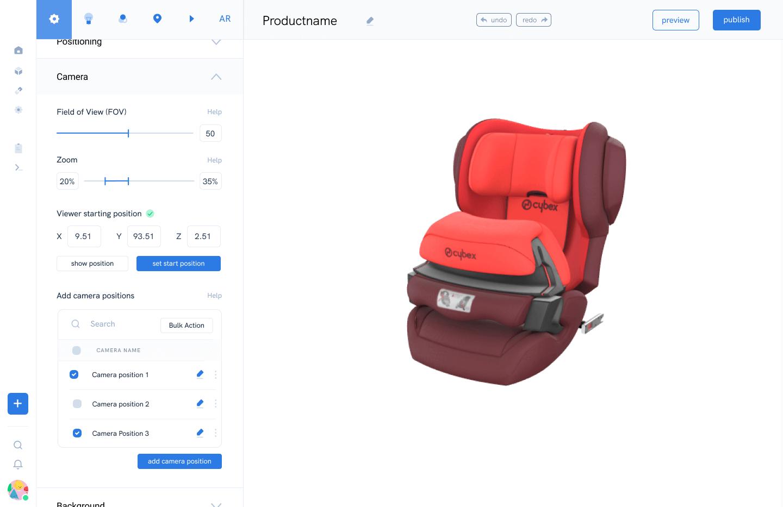 Screenshot VRxs Editor für 3D und Augmented Reality