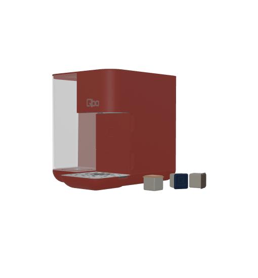 Vorschaubild eines 3D und Augmented Reality Modells der Tchibo QBO Kaffeemaschine in rot