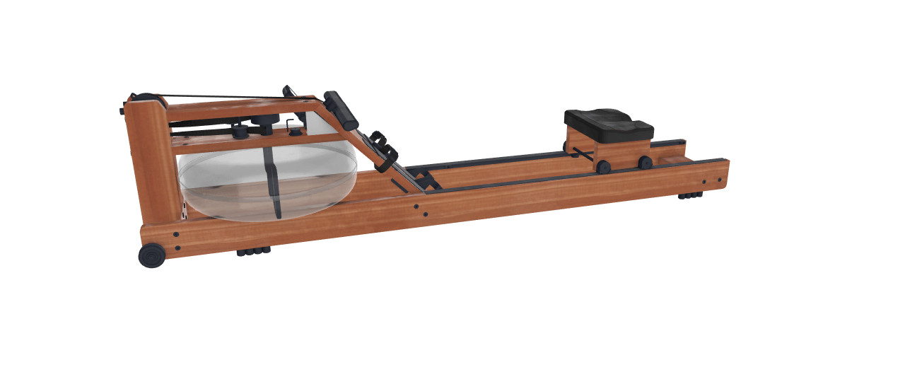 Preview image of 3D augmented reality model of a wooden rowing machine